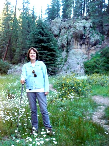 Diane hiking